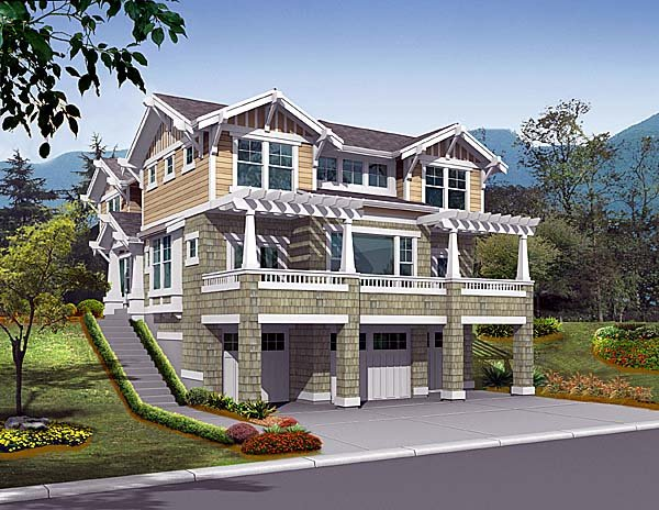 Craftsman House Plan 87556 Elevation