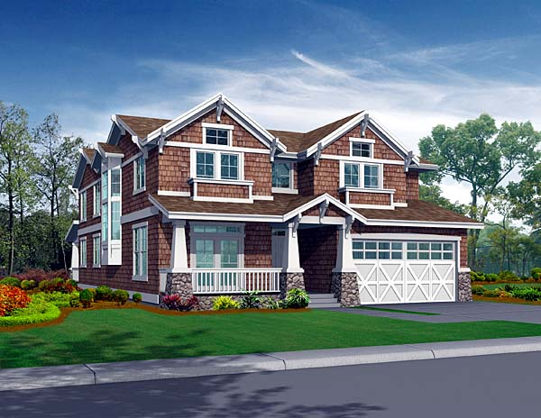 Craftsman House Plan 87558 Elevation