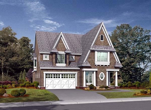 Tudor Victorian House Plan 87559 Elevation