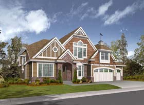 Craftsman House Plan 87563 with 5 Beds, 4 Baths, 3 Car Garage Elevation
