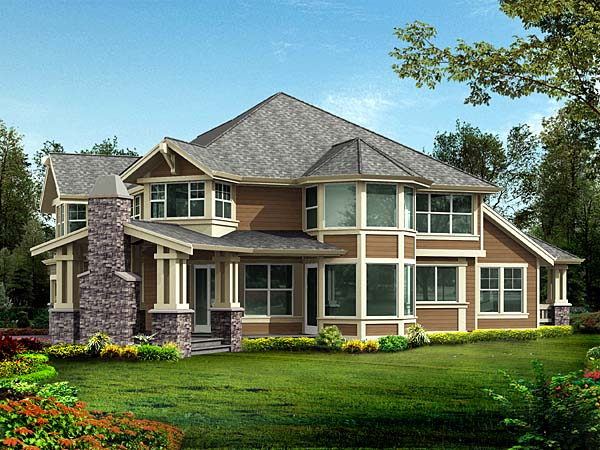 Country Farmhouse House Plan 87564 Rear Elevation