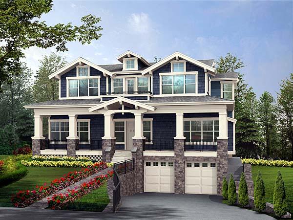 Craftsman House Plan 87565 Elevation