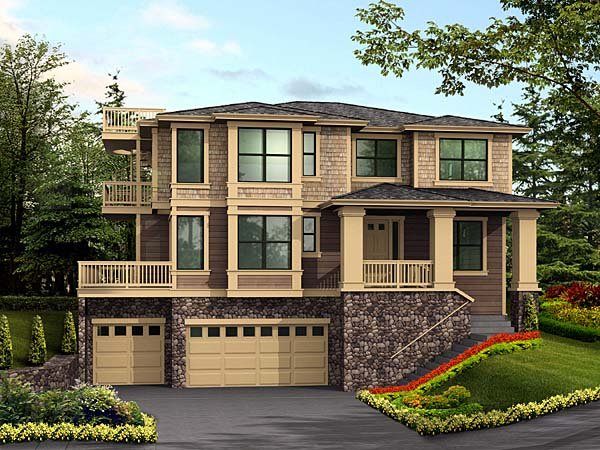 House Plan 87568 | Contemporary Southwest Style Plan with 3946 Sq Ft, 4 Bedrooms, 4 Bathrooms, 3 Car Garage Elevation