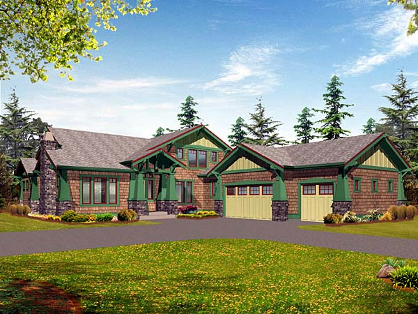 Bungalow Craftsman House Plan 87570 Elevation