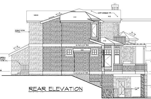 Contemporary Southern House Plan 87571 Rear Elevation
