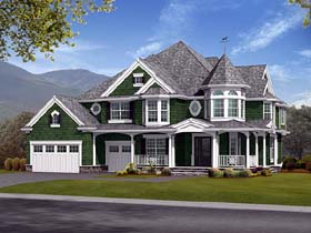 Farmhouse Victorian House Plan 87572 Elevation