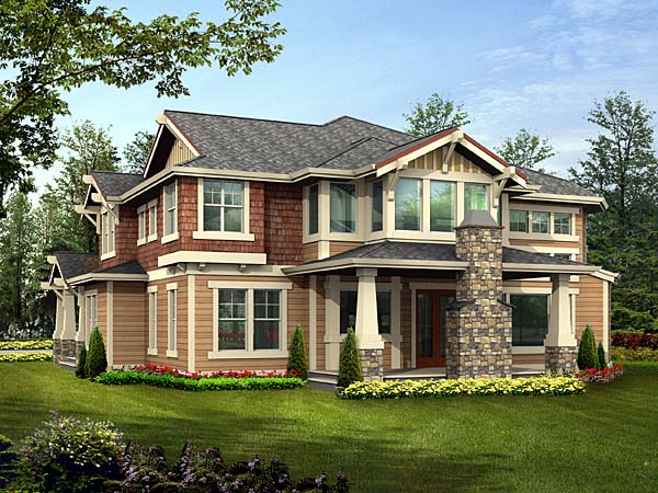 Bungalow Craftsman House Plan 87574 Rear Elevation