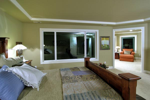 Views from the master bedroom into the bayed sitting area.