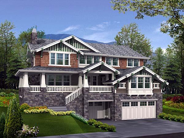 Bungalow Craftsman House Plan 87576 Elevation