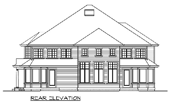 Colonial Country Traditional House Plan 87582 Rear Elevation