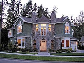 Cape Cod , Craftsman , Victorian House Plan 87584 with 4 Beds, 4 Baths, 3 Car Garage Elevation