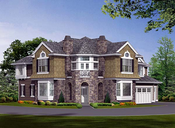 Cape Cod, Craftsman, Victorian House Plan 87584 with 4 Beds, 4 Baths, 3 Car Garage Picture 1