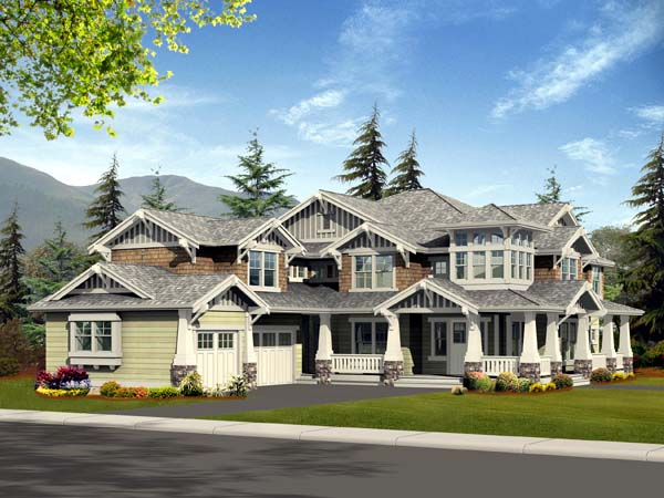 Bungalow, Craftsman House Plan 87586 with 4 Beds, 3 Baths, 3 Car Garage Elevation
