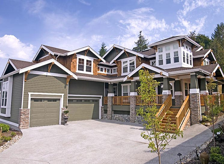 Bungalow, Craftsman House Plan 87586 with 4 Beds, 3 Baths, 3 Car Garage Picture 1