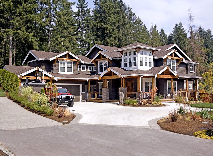 Bungalow, Craftsman House Plan 87586 with 4 Beds, 3 Baths, 3 Car Garage Picture 2