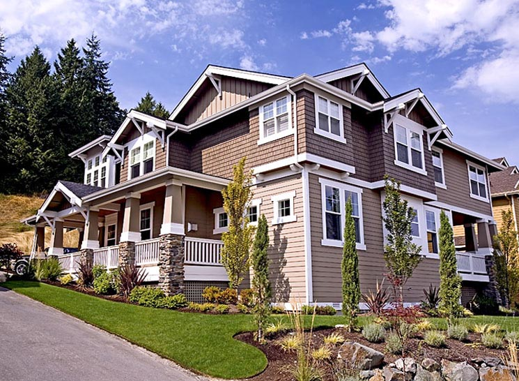 Bungalow, Craftsman House Plan 87586 with 4 Beds, 3 Baths, 3 Car Garage Picture 3