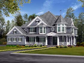 Farmhouse Victorian House Plan 87587 Elevation