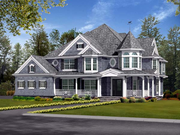 Farmhouse, Victorian House Plan 87587 with 5 Beds, 4 Baths, 3 Car Garage Elevation