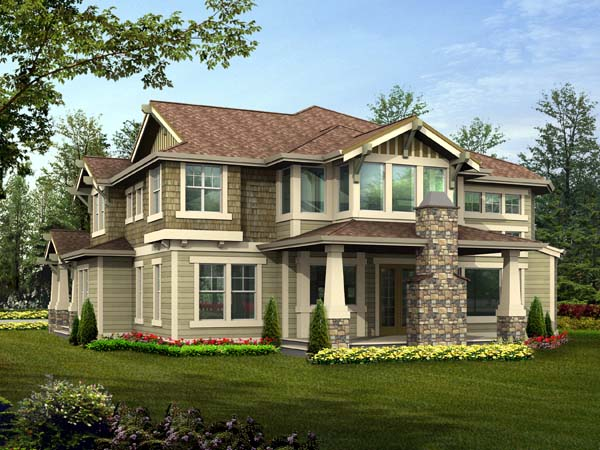 Craftsman House Plan 87588 Rear Elevation