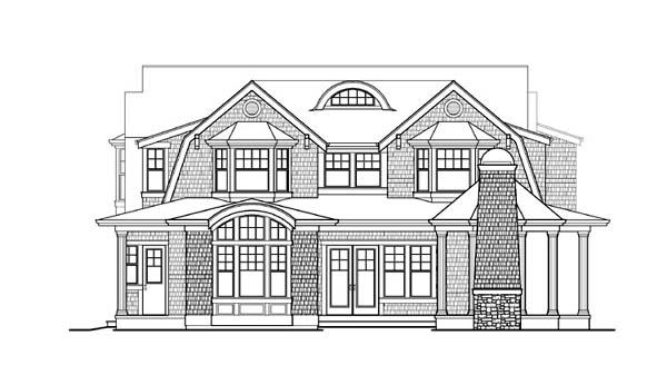 Craftsman House Plan 87591 Rear Elevation