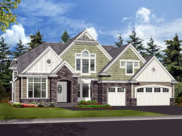 Craftsman House Plan 87592 Elevation