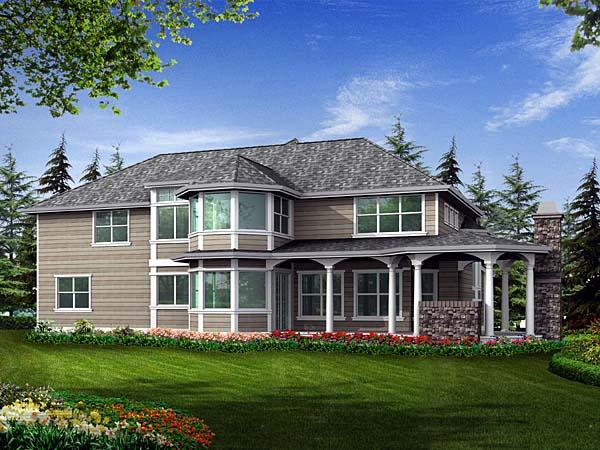 Craftsman House Plan 87593 Rear Elevation