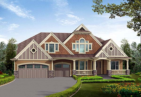 Craftsman House Plan 87595 Elevation
