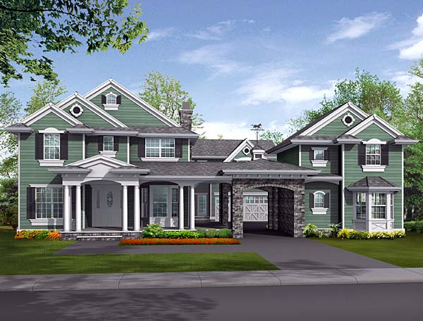 Colonial House Plan 87596 Elevation