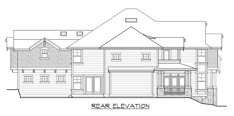 European Victorian House Plan 87599 Rear Elevation