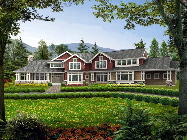 Country, Farmhouse House Plan 87602 with 5 Beds, 5 Baths, 3 Car Garage Elevation