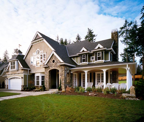 Craftsman, House Plan 87606 with 4 Beds, 4 Baths, 3 Car Garage Elevation