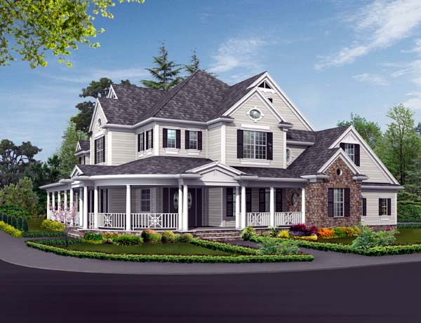 Farmhouse House Plan 87608