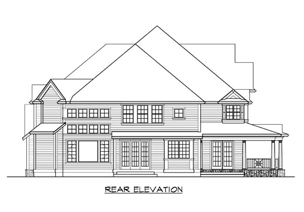 Farmhouse House Plan 87608 Rear Elevation