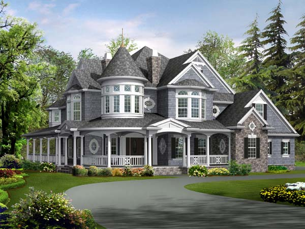 Farmhouse Victorian House Plan 87609