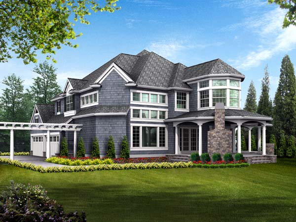 Farmhouse Victorian House Plan 87609 Rear Elevation
