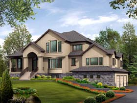 Contemporary , Traditional House Plan 87611 with 4 Beds, 5 Baths, 3 Car Garage Elevation