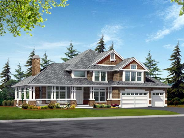 Country Craftsman House Plan 87612 Elevation
