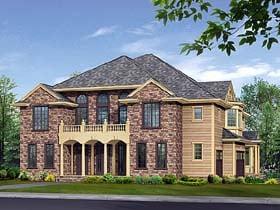 European House Plan 87613 with 5 Beds, 6 Baths, 3 Car Garage Elevation