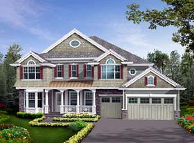 Craftsman Traditional House Plan 87614 Elevation