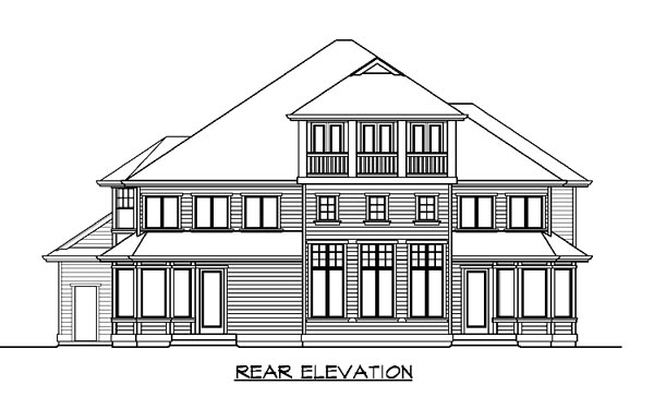 Craftsman Traditional House Plan 87614 Rear Elevation