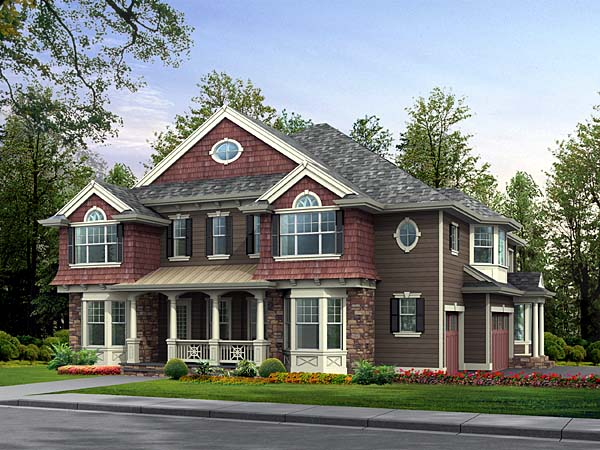 Colonial Traditional House Plan 87615 Elevation