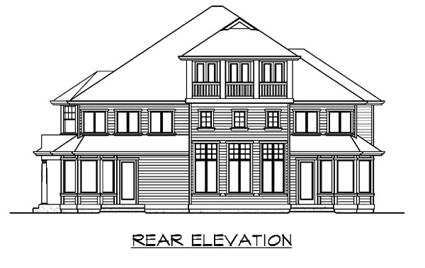 Colonial Traditional House Plan 87615 Rear Elevation