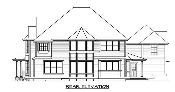 Country Farmhouse House Plan 87616 Rear Elevation