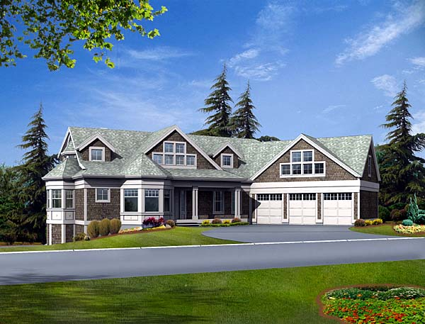 House Plan 87619 | Traditional Style Plan with 4952 Sq Ft, 4 Bedrooms, 5 Bathrooms, 3 Car Garage