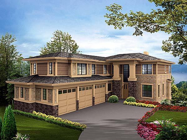 Southwest House Plan 87623 Elevation