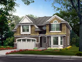 House Plan 87626 | Bungalow Style Plan with 2651 Sq Ft, 4 Bedrooms, 3 Bathrooms, 2 Car Garage Elevation