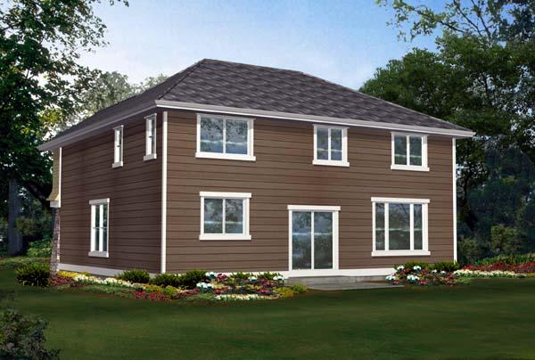 House Plan 87626 | Bungalow Style Plan with 2651 Sq Ft, 4 Bedrooms, 3 Bathrooms, 2 Car Garage Rear Elevation