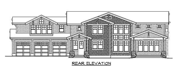Craftsman House Plan 87634 Rear Elevation