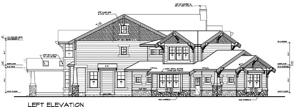 Contemporary House Plan 87637 with 4 Beds, 6 Baths, 3 Car Garage Picture 1