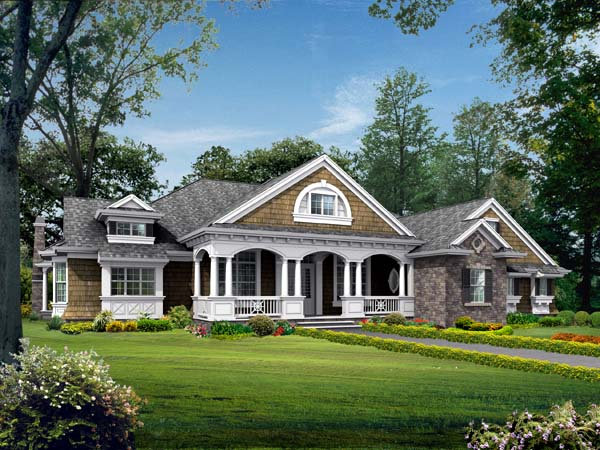 Colonial Country Craftsman House Plan 87646 Elevation